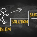 business concept:problem solution success