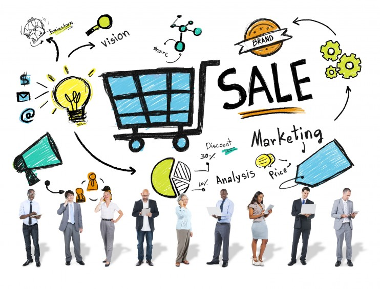 Diversity Business People Sale Marketing Strategy Concept