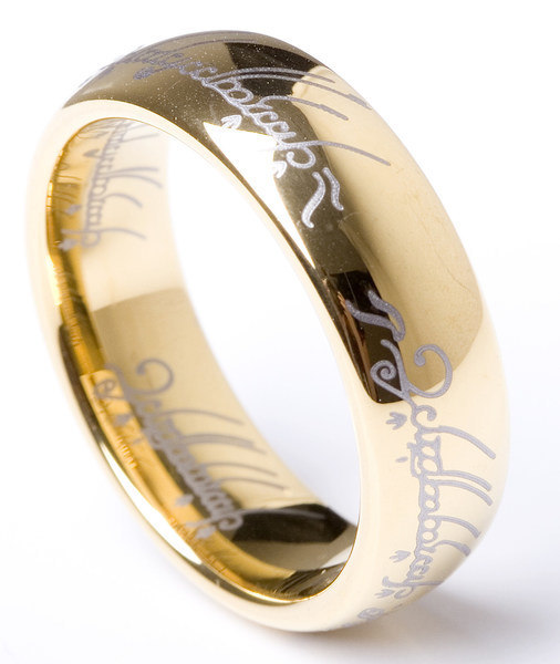 lord of the rings wedding band - The One Ring Wedding Band