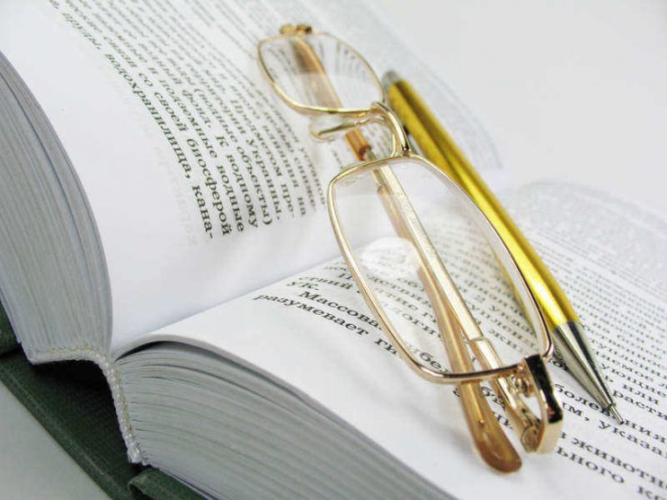 The Book is source knowledges. Spectacles very necessary accessory for people with bad vision